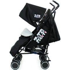 Zeta CiTi Stroller - Black Complete With Footmuff & Raincover - Baby Travel UK  - 4