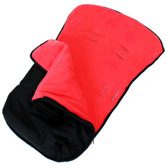 iSafe Buddy Jet Carseat Footmuff - Warm Red (Black / Red) - Baby Travel UK  - 3