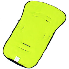 iSafe Buddy Jet Carseat Footmuff - Lime (Black / Lemon) - Baby Travel UK  - 4