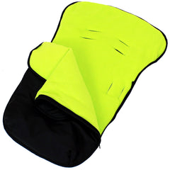 iSafe Buddy Jet Carseat Footmuff - Lime (Black / Lemon) - Baby Travel UK  - 3