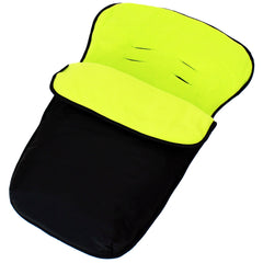 iSafe Buddy Jet Carseat Footmuff - Lime (Black / Lemon) - Baby Travel UK  - 2