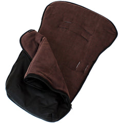 iSafe Buddy Jet Carseat Footmuff - Hot Chocolate (Black / Brown) - Baby Travel UK  - 3