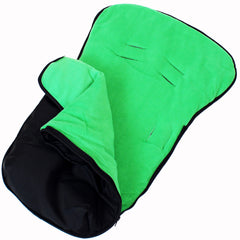 iSafe Buddy Jet Carseat Footmuff - Leaf (Black / Green) - Baby Travel UK  - 3
