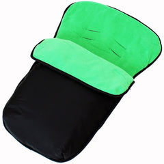 iSafe Buddy Jet Carseat Footmuff - Leaf (Black / Green) - Baby Travel UK  - 2