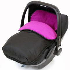 iSafe Buddy Jet Carseat Footmuff - Plum (Black / Purple) - Baby Travel UK  - 1