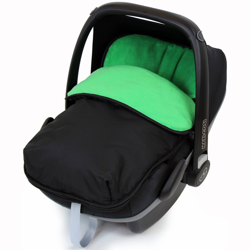 iSafe Buddy Jet Carseat Footmuff - Leaf (Black / Green) - Baby Travel UK  - 1