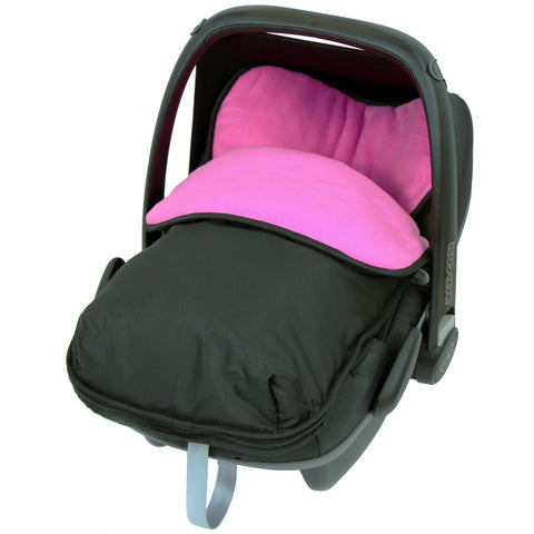 iSafe Buddy Jet Carseat Footmuff - Raspberry (Black / Pink)