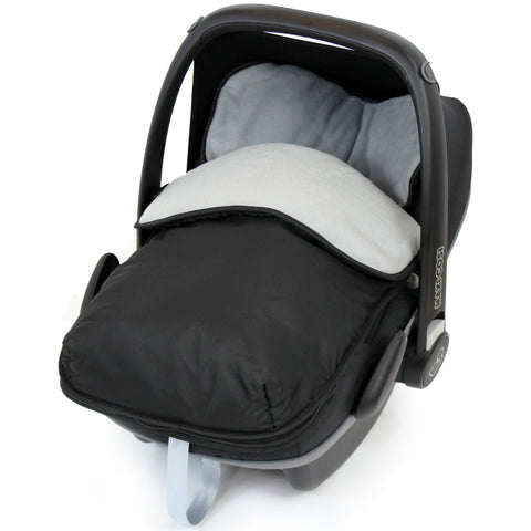 iSafe Buddy Jet Car Seat Footmuff - Grey (Black / Grey)