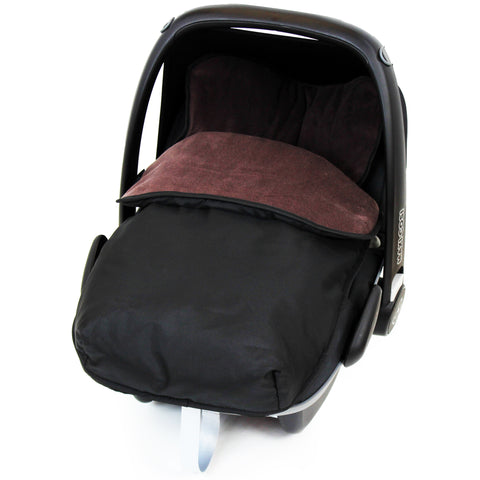iSafe Buddy Jet Carseat Footmuff - Hot Chocolate (Black / Brown)