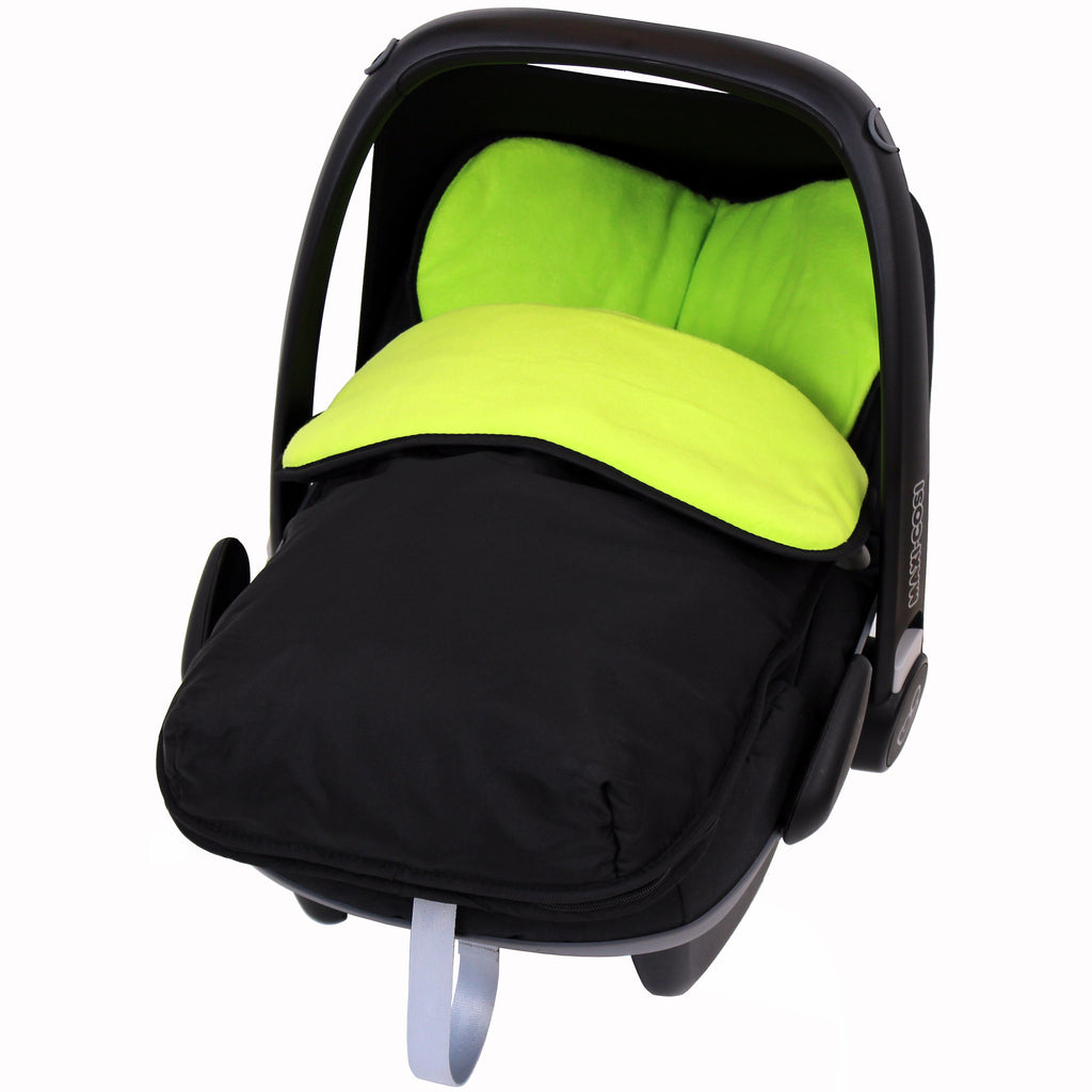 iSafe Buddy Jet Carseat Footmuff - Lime (Black / Lemon) - Baby Travel UK  - 1