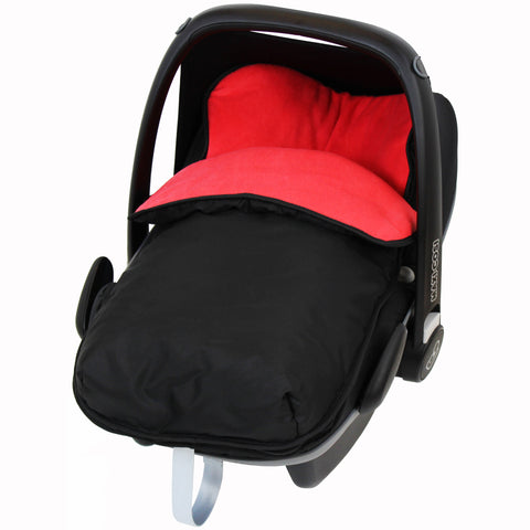 iSafe Buddy Jet Carseat Footmuff - Warm Red (Black / Red)