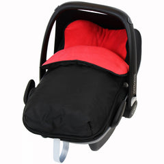 iSafe Buddy Jet Carseat Footmuff - Warm Red (Black / Red) - Baby Travel UK  - 1