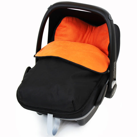 iSafe Buddy Jet Carseat Footmuff - Black/Orange (Orange)