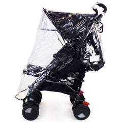 Rain Cover To Fit Maclaren Techno XT - Black Stroller Buggy - Baby Travel UK  - 3