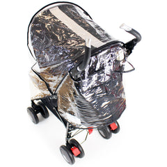Rain Cover To Fit Maclaren Techno XT - Black Stroller Buggy - Baby Travel UK  - 5