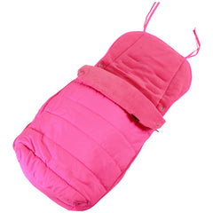 Luxury Padded Footmuff Liner - Raspberry Pink Fit Maclaren Quest Triumph Techno - Baby Travel UK  - 1
