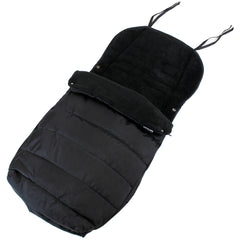 XXL Large Luxury Foot-muff And Liner For Mamas And Papas Armadillo - Black (Black) - Baby Travel UK  - 2