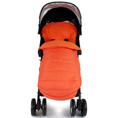 XXL Large Luxury Foot-muff And Liner For Maclaren Techno XT - Orange (Orange) - Baby Travel UK  - 4