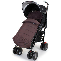 XXL Large Luxury Foot-muff And Liner For Maclaren Techno XT - Hot Chocolate (Brown) - Baby Travel UK  - 1