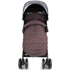 XXL Large Luxury Foot-muff And Liner For Maclaren Techno XT - Hot Chocolate (Brown) - Baby Travel UK  - 5