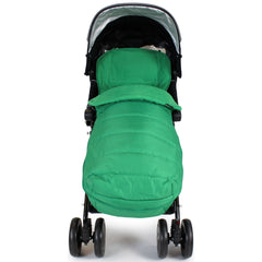 XXL Large Luxury Foot-muff And Liner For Maclaren Techno XT - Leaf (Green) - Baby Travel UK  - 2