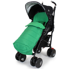 XXL Large Luxury Foot-muff And Liner For Mamas And Papas Armadillo - Leaf (Green) - Baby Travel UK  - 4