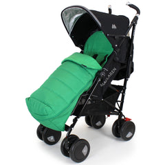 XXL Large Luxury Foot-muff And Liner For Maclaren Techno XT - Leaf (Green) - Baby Travel UK  - 4
