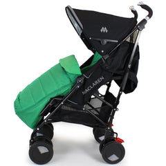 XXL Large Luxury Foot-muff And Liner For Maclaren Techno XT - Leaf (Green) - Baby Travel UK  - 5