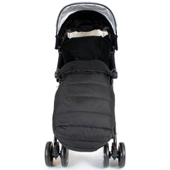 XXL Large Luxury Foot-muff And Liner For Maclaren Techno XT - Black (Black) - Baby Travel UK  - 3
