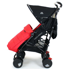 XXL Large Luxury Foot-muff And Liner For Maclaren Techno XT - Warm Red (Red) - Baby Travel UK  - 3