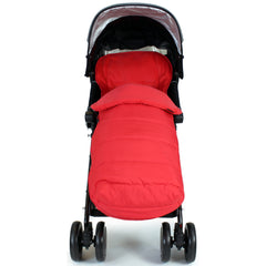 XXL Large Luxury Foot-muff And Liner For Maclaren Techno XT - Warm Red (Red) - Baby Travel UK  - 4