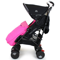Luxury Padded Footmuff Liner - Raspberry Pink Fit Maclaren Quest Triumph Techno - Baby Travel UK  - 5