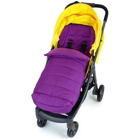 XXL Large Luxury Foot-muff And Liner For Mamas And Papas Armadillo - Plum (Purple)