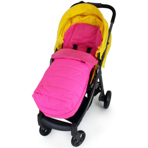 XXL Large Luxury Foot-muff And Liner For Mamas And Papas Armadillo - Raspberry (Pink)