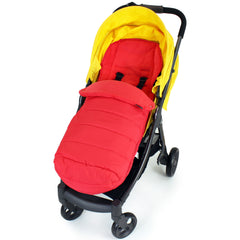 XXL Large Luxury Foot-muff And Liner For Mamas And Papas Armadillo - Warm Red (Red) - Baby Travel UK  - 1