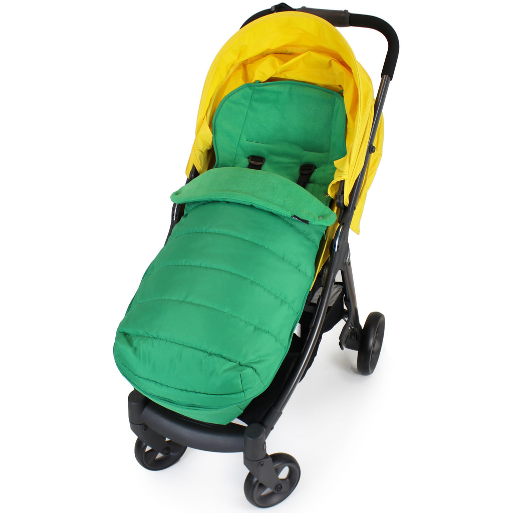 XXL Large Luxury Foot-muff And Liner For Mamas And Papas Armadillo - Leaf (Green) - Baby Travel UK  - 1