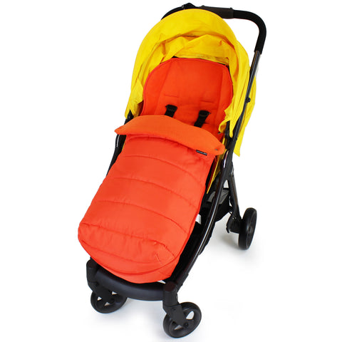 XXL Large Luxury Foot-muff And Liner For Mamas And Papas Armadillo - Orange (Orange)