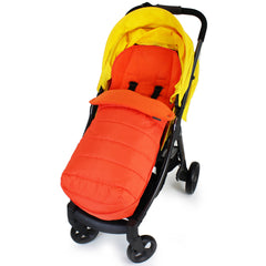 XXL Large Luxury Foot-muff And Liner For Mamas And Papas Armadillo - Orange (Orange) - Baby Travel UK  - 1
