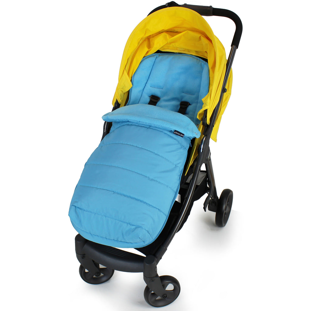 XXL Large Luxury Foot-muff And Liner For Mamas And Papas Armadillo - Ocean (Blue) - Baby Travel UK  - 1