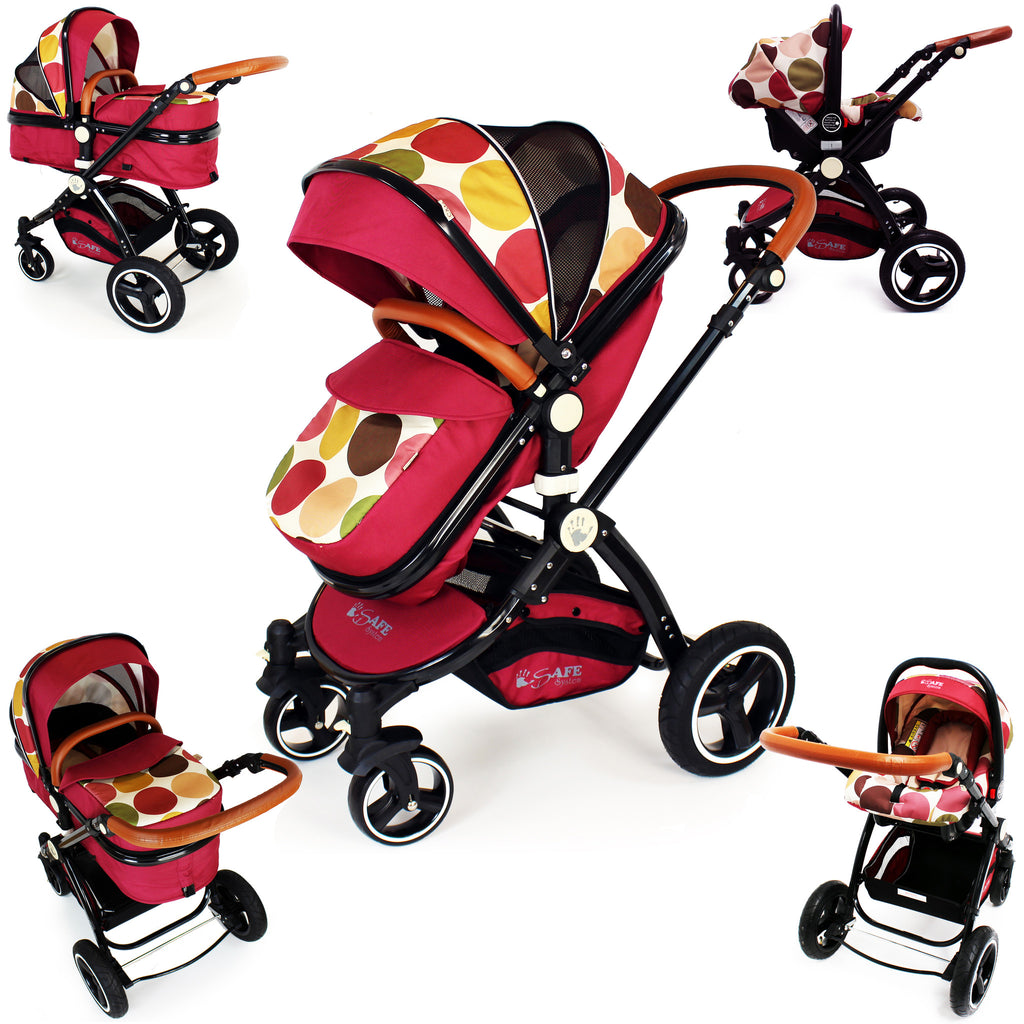 iSafe Baby Stroller Pram 3 in 1 - C&M Design (Complete With Car Seat) - Baby Travel UK  - 1