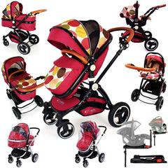 iSafe C&M Design 3in1 Complete Trio Travel System Pram & Luxury Stroller - Baby Travel UK  - 3