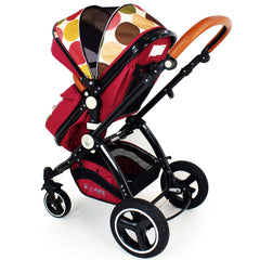 iSafe Baby Stroller Pram 3 in 1 - C&M Design (Complete With Car Seat) - Baby Travel UK  - 4