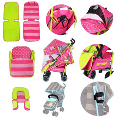 2018 Essential Bundle Package - Pink Girls Design +Stroller + All Stages Car seat + High Chair + Accessories