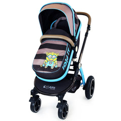 i-Safe System - i DiD iT Trio Travel System Pram & Luxury Stroller 3 in 1 Complete With Car Seat + Changing Bag + Rain Covers - Baby Travel UK  - 7