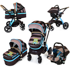 iSafe 3 in 1 Pram System - i DiD iT Trio Travel System Pram & Luxury Stroller 3 in 1 Complete With Car Seat - Baby Travel UK  - 1