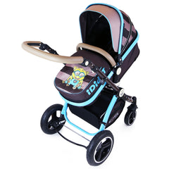 i-Safe System - i DiD iT Trio Travel System Pram & Luxury Stroller 3 in 1 Complete With Car Seat + Changing Bag + Rain Covers - Baby Travel UK  - 9