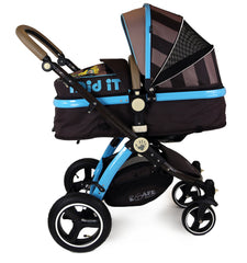 i-Safe System - i DiD iT Trio Travel System Pram & Luxury Stroller 3 in 1 Complete With Car Seat + Changing Bag + Rain Covers - Baby Travel UK  - 4