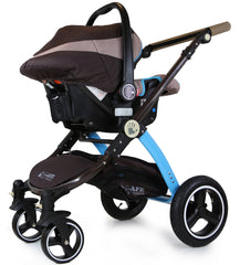 i-Safe System - i DiD iT Trio Travel System Pram & Luxury Stroller 3 in 1 Complete With Car Seat And Rain Covers - Baby Travel UK  - 11