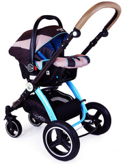 i-Safe System - i DiD iT Trio Travel System Pram & Luxury Stroller 3 in 1 Complete With Car Seat + Changing Bag + Rain Covers - Baby Travel UK  - 16