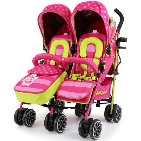 iSafe TWIN OPTIMUM Stroller  Mea LUX Design The Best Stroller In The World!